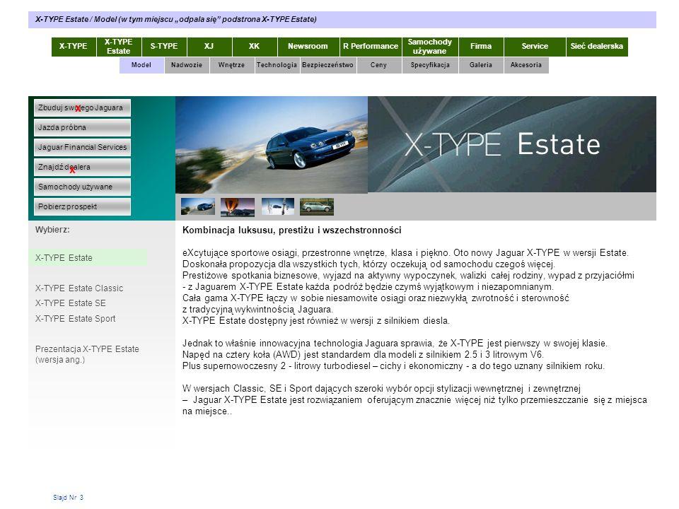 """X-TYPE Estate / Model (w tym miejscu """"odpala się podstrona X-TYPE Estate)"""