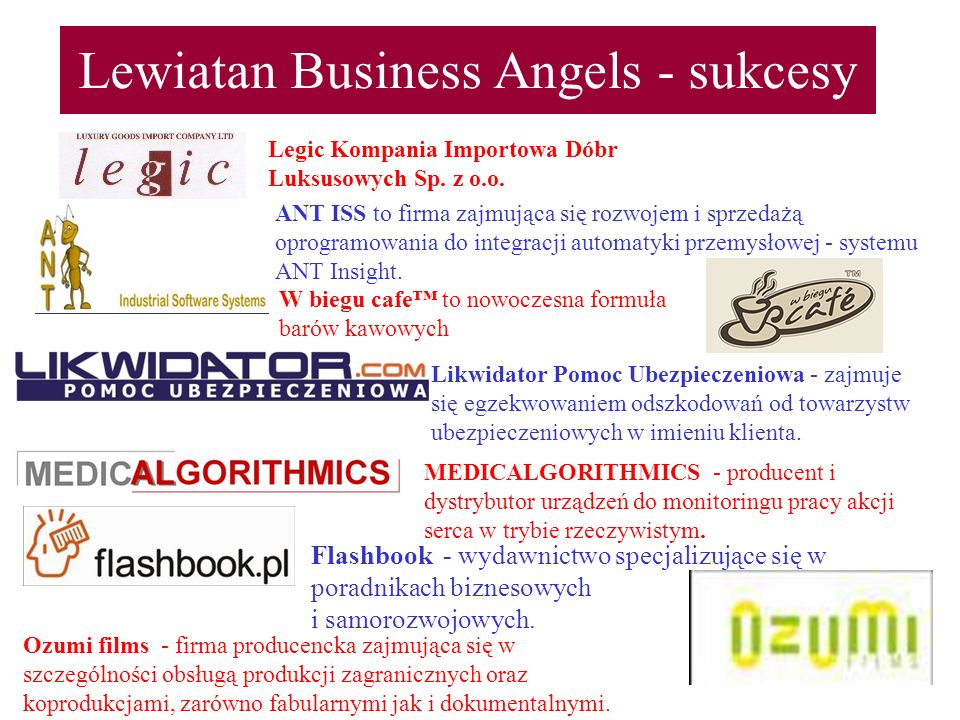 Lewiatan Business Angels - sukcesy