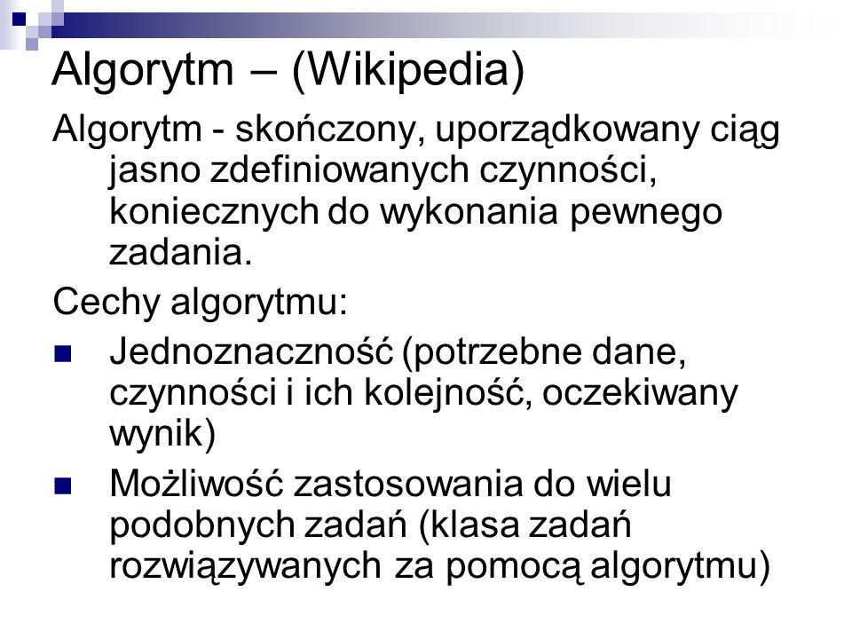 Algorytm – (Wikipedia)