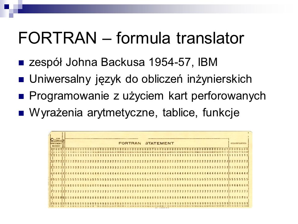 FORTRAN – formula translator
