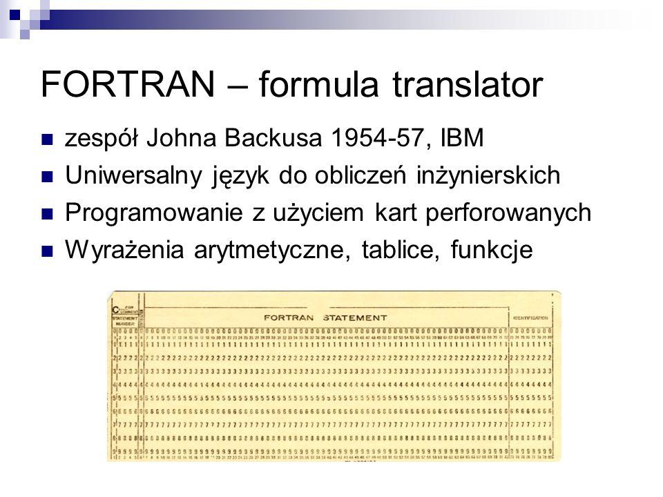FORTRAN – formula translator