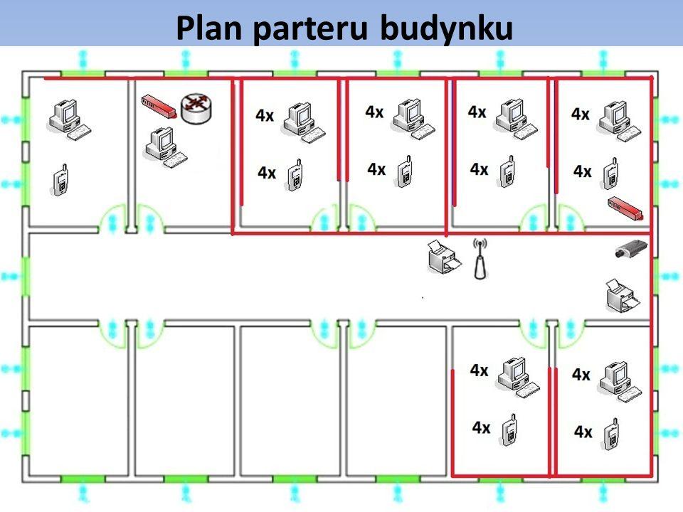 Plan parteru budynku