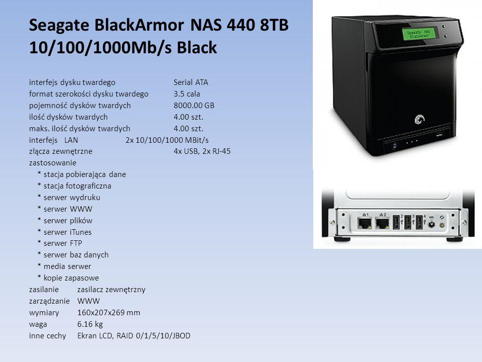 Seagate BlackArmor NAS 440 8TB 10/100/1000Mb/s Black