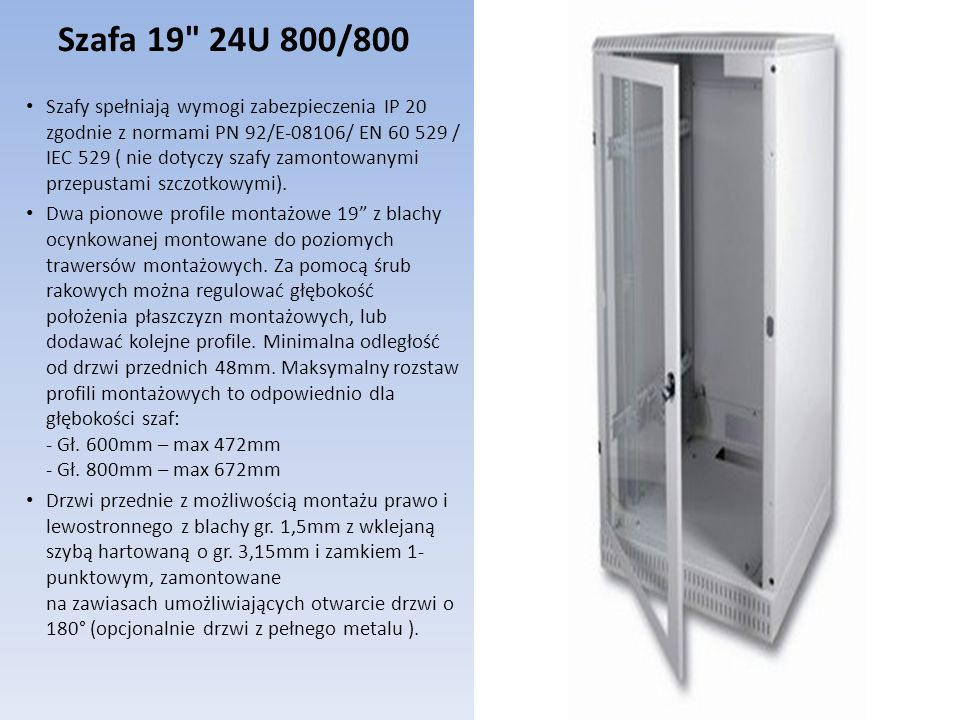 Szafa 19 24U 800/800
