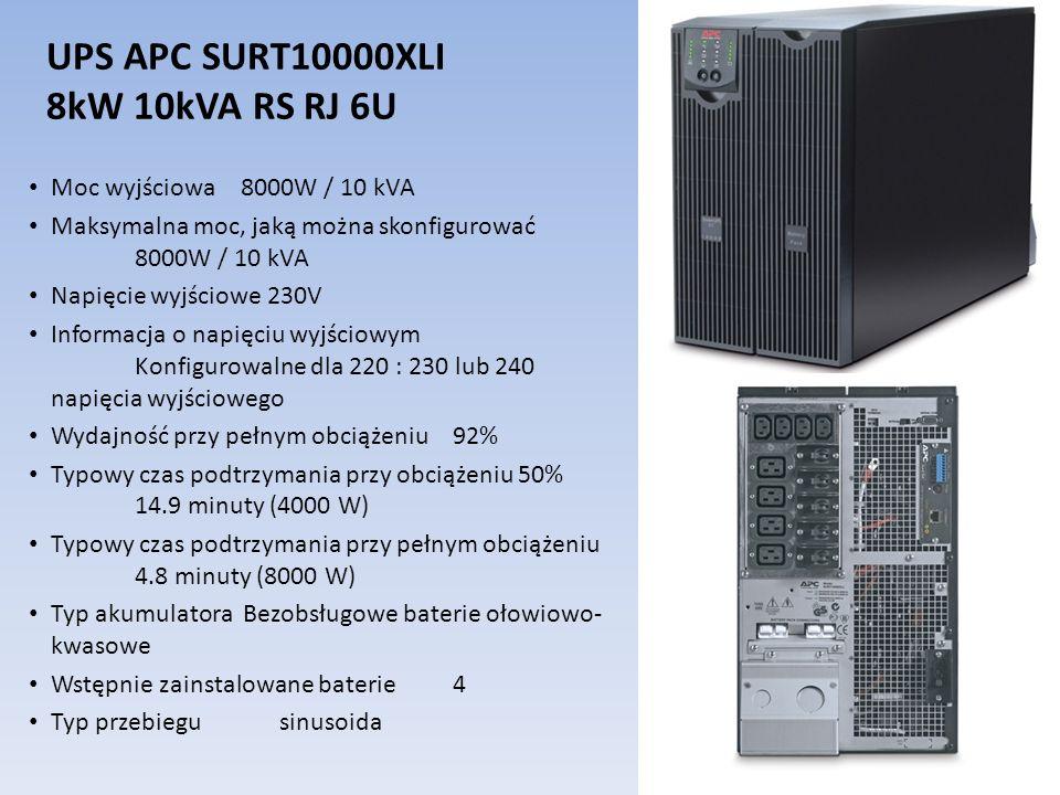 UPS APC SURT10000XLI 8kW 10kVA RS RJ 6U