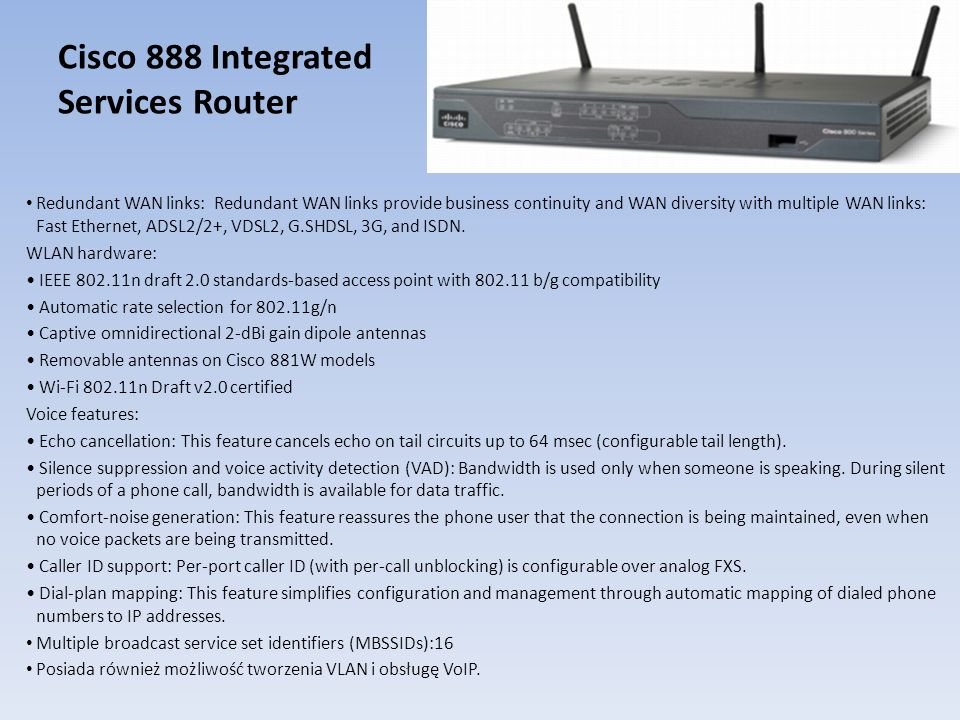 Cisco 888 Integrated Services Router