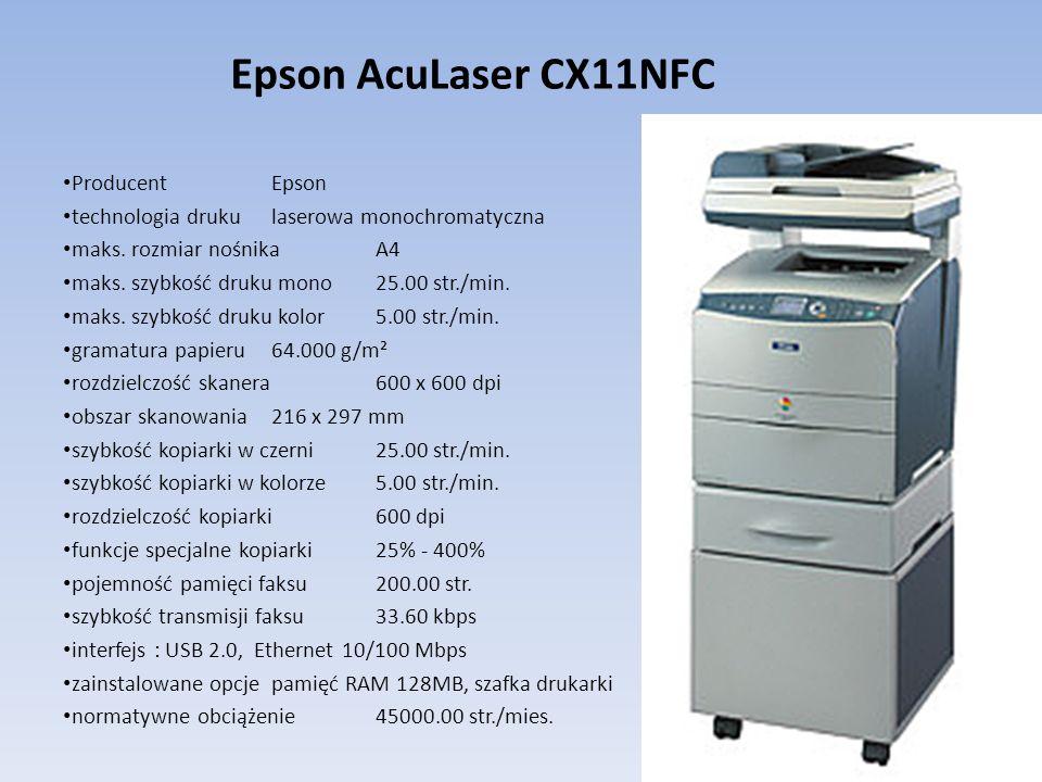 Epson AcuLaser CX11NFC Producent Epson