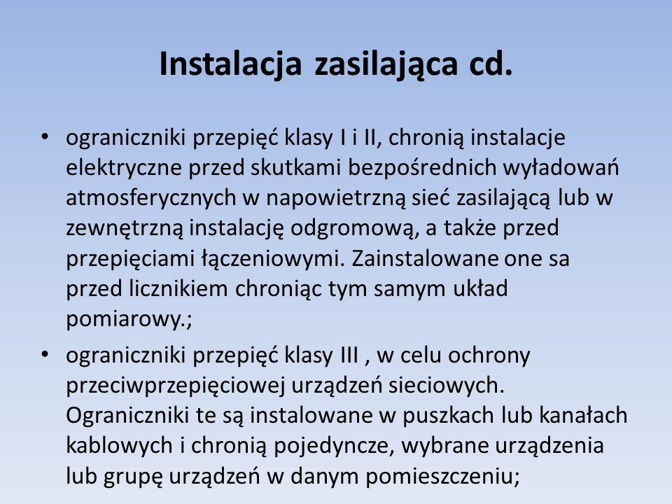 Instalacja zasilająca cd.