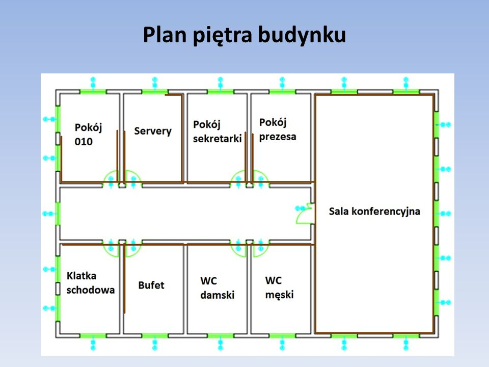 Plan piętra budynku