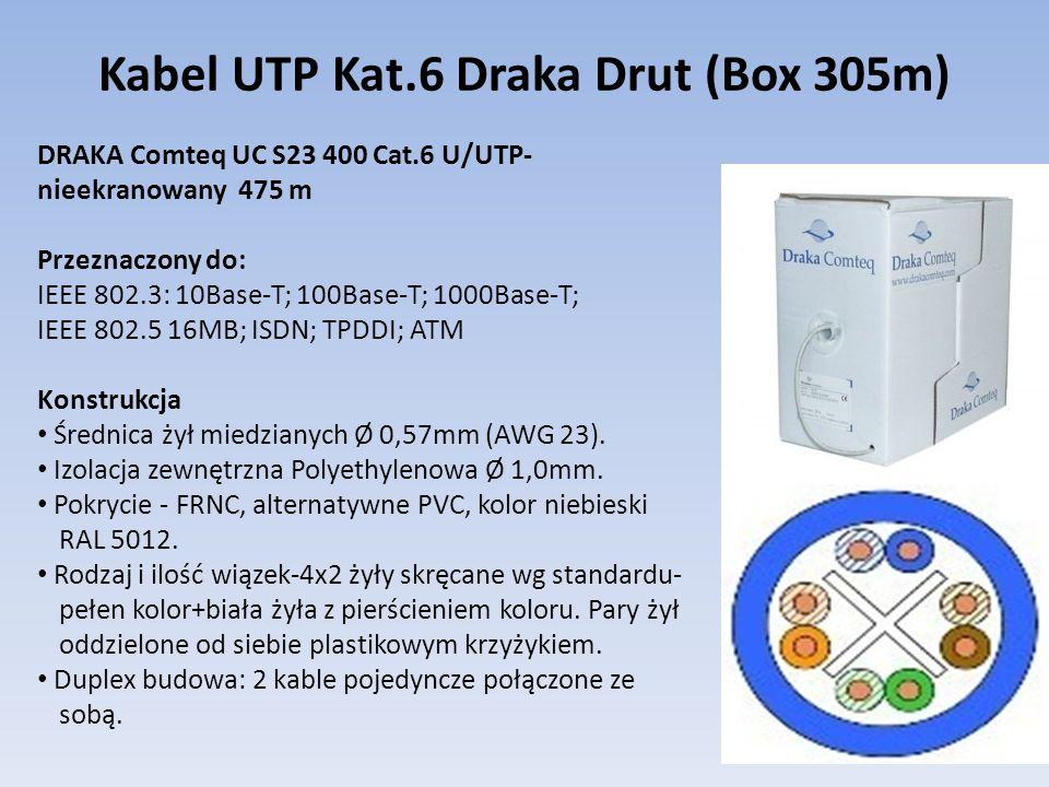 Kabel UTP Kat.6 Draka Drut (Box 305m)