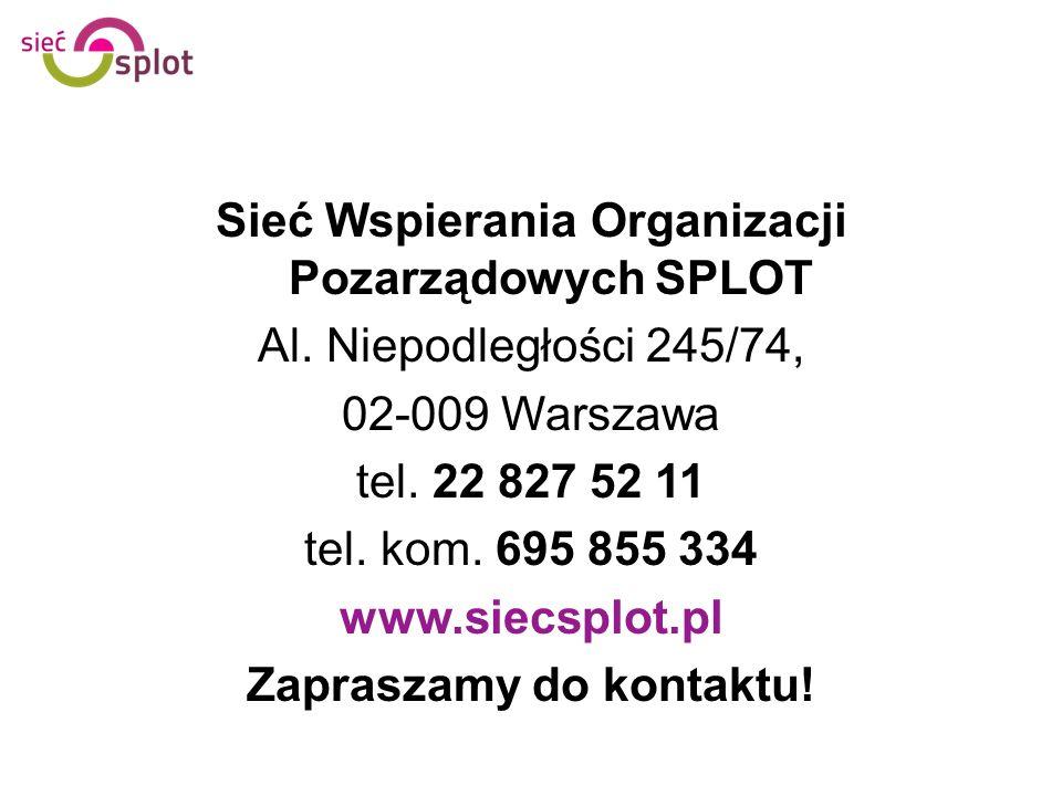 Sieć Wspierania Organizacji Pozarządowych SPLOT Al