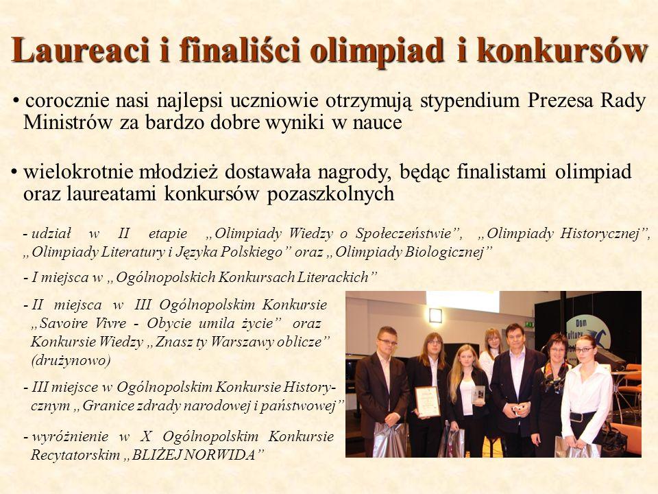 Laureaci i finaliści olimpiad i konkursów