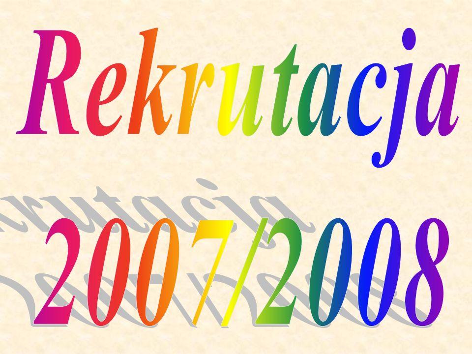 Rekrutacja 2007/2008