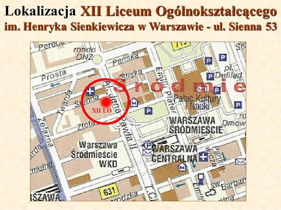 Lokalizacja XII Liceum Ogólnokształcącego
