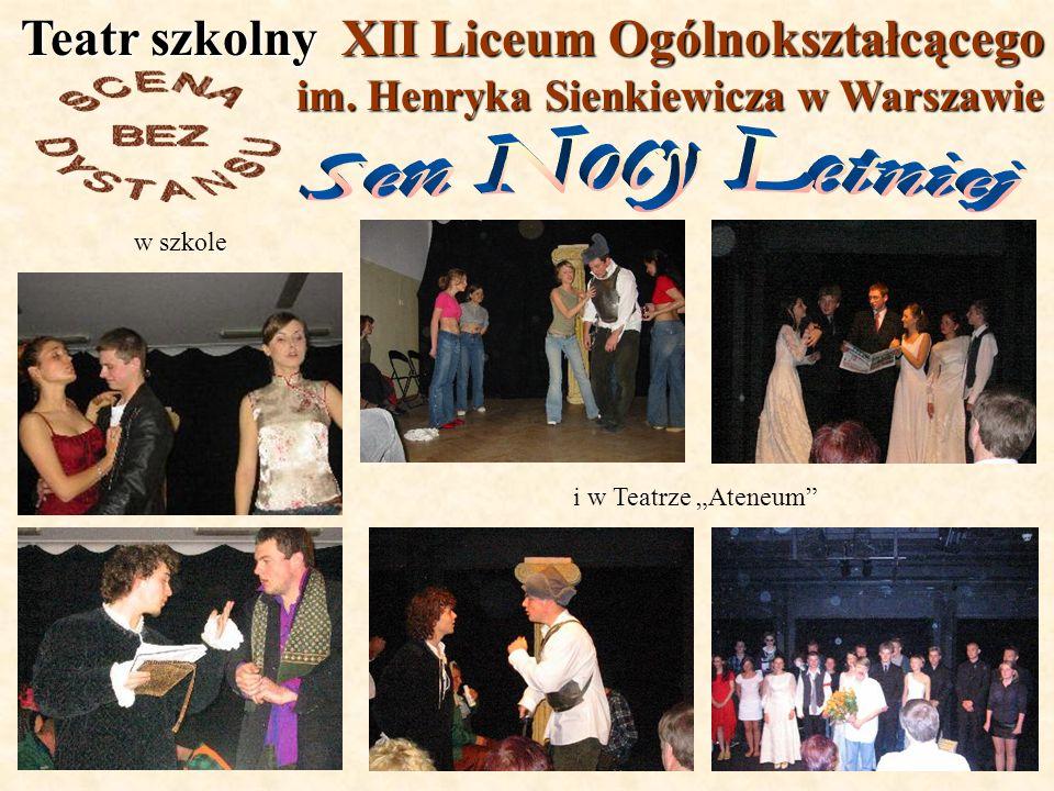 Teatr szkolny XII Liceum Ogólnokształcącego im