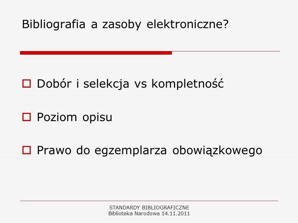 Bibliografia a zasoby elektroniczne