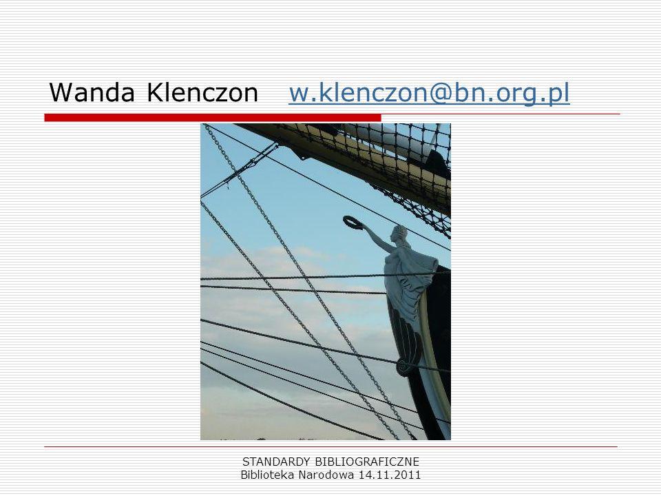 Wanda Klenczon w.klenczon@bn.org.pl