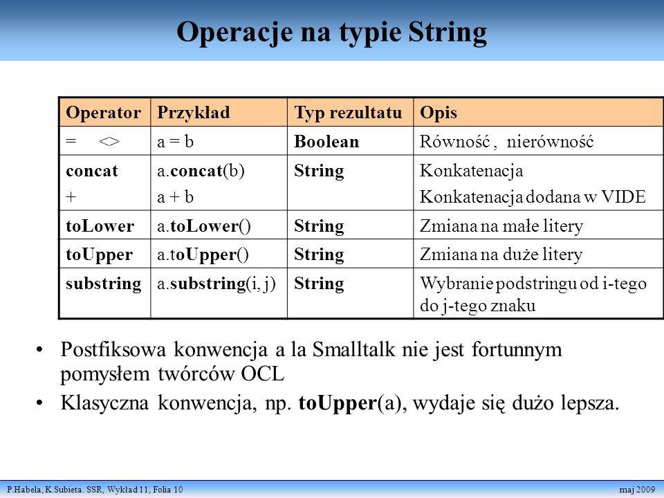 Operacje na typie String
