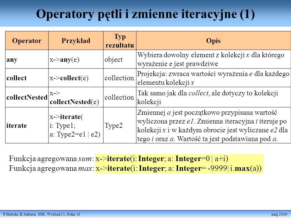 Operatory pętli i zmienne iteracyjne (1)