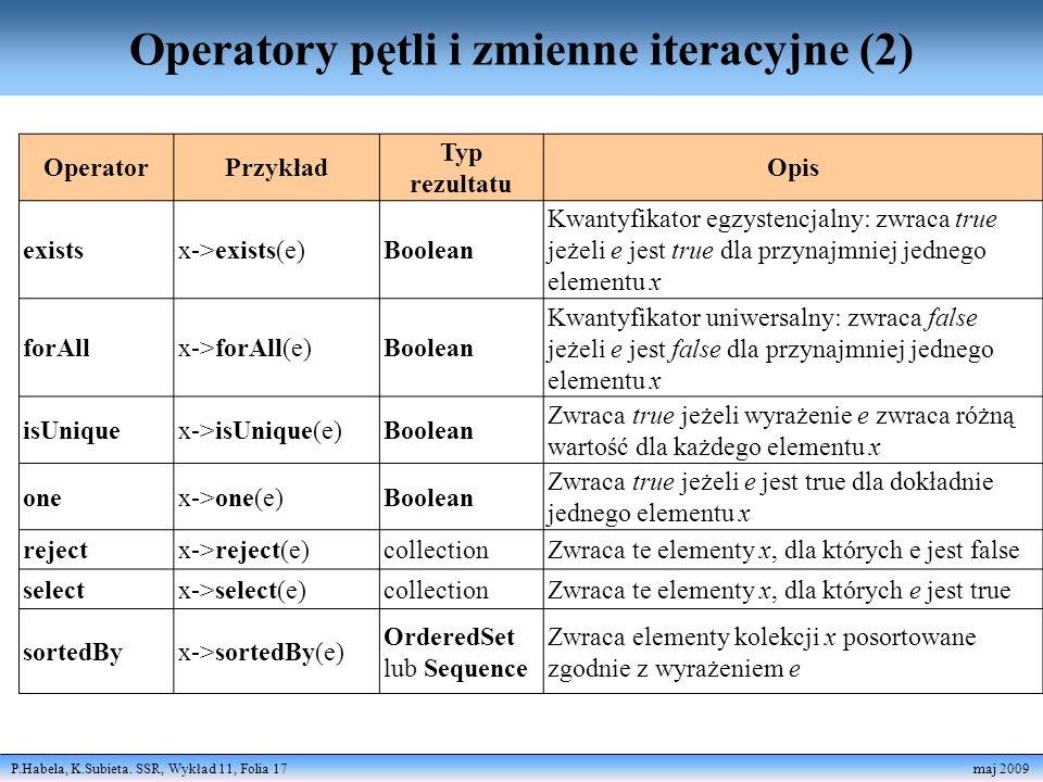 Operatory pętli i zmienne iteracyjne (2)