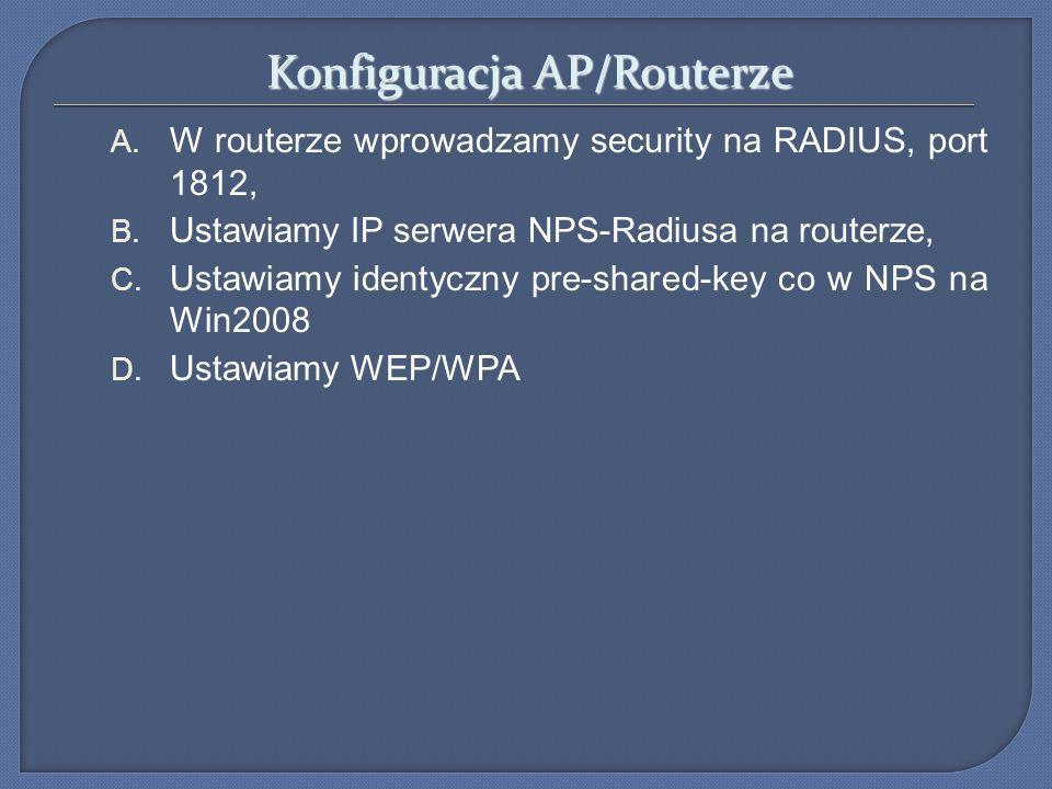 Konfiguracja AP/Routerze
