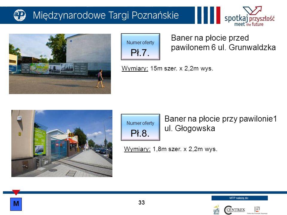 Baner na płocie przy pawilonie1 ul. Głogowska