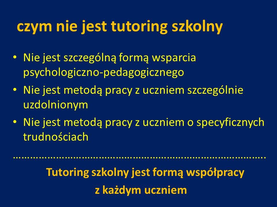 czym nie jest tutoring szkolny
