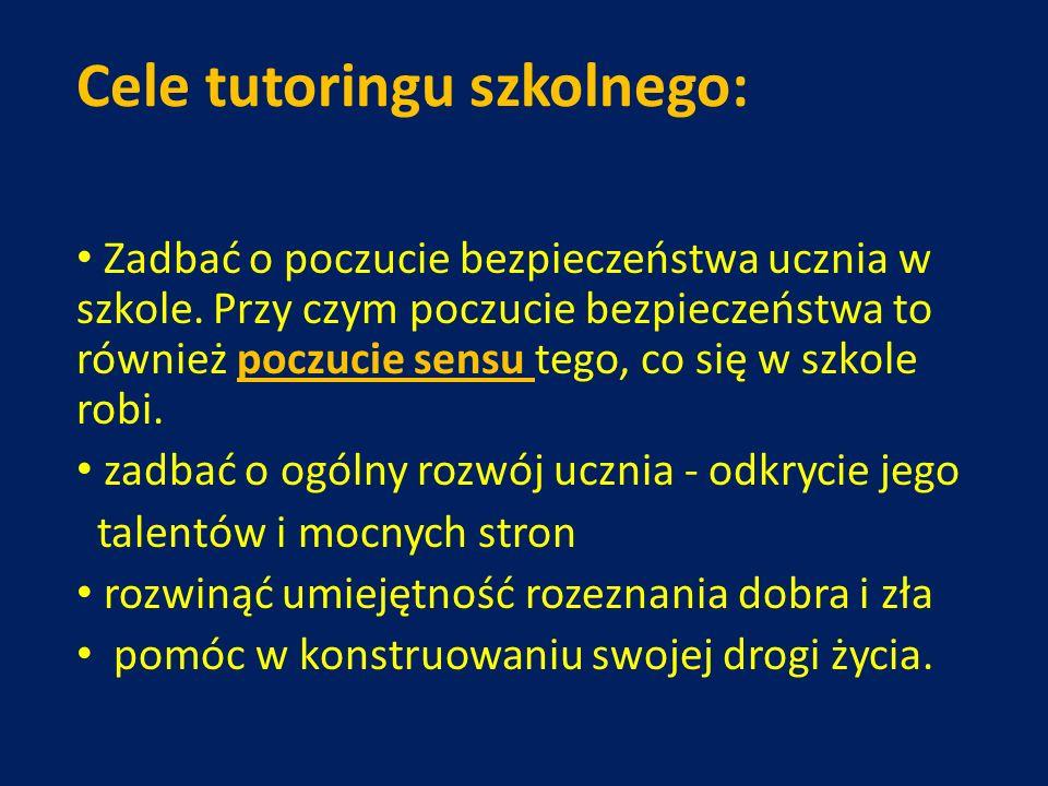 Cele tutoringu szkolnego:
