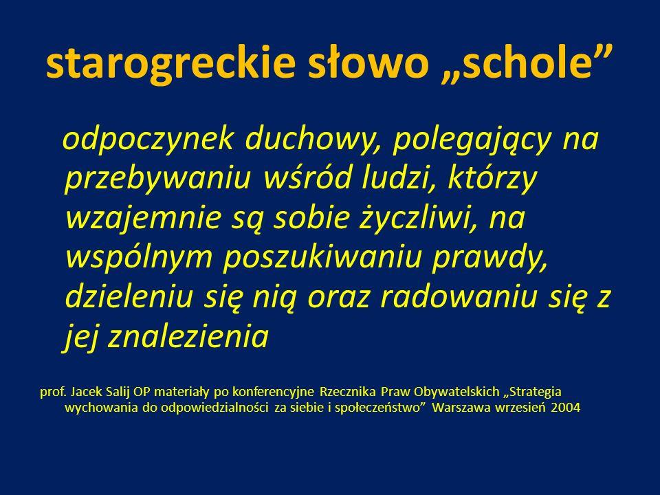 """starogreckie słowo """"schole"""