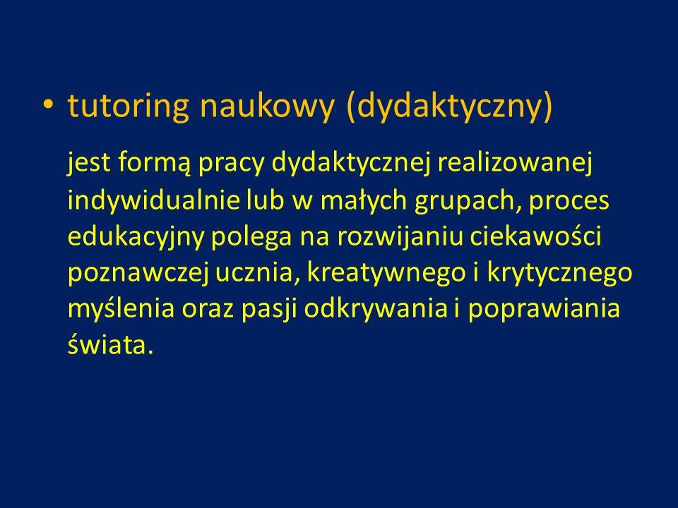 tutoring naukowy (dydaktyczny)