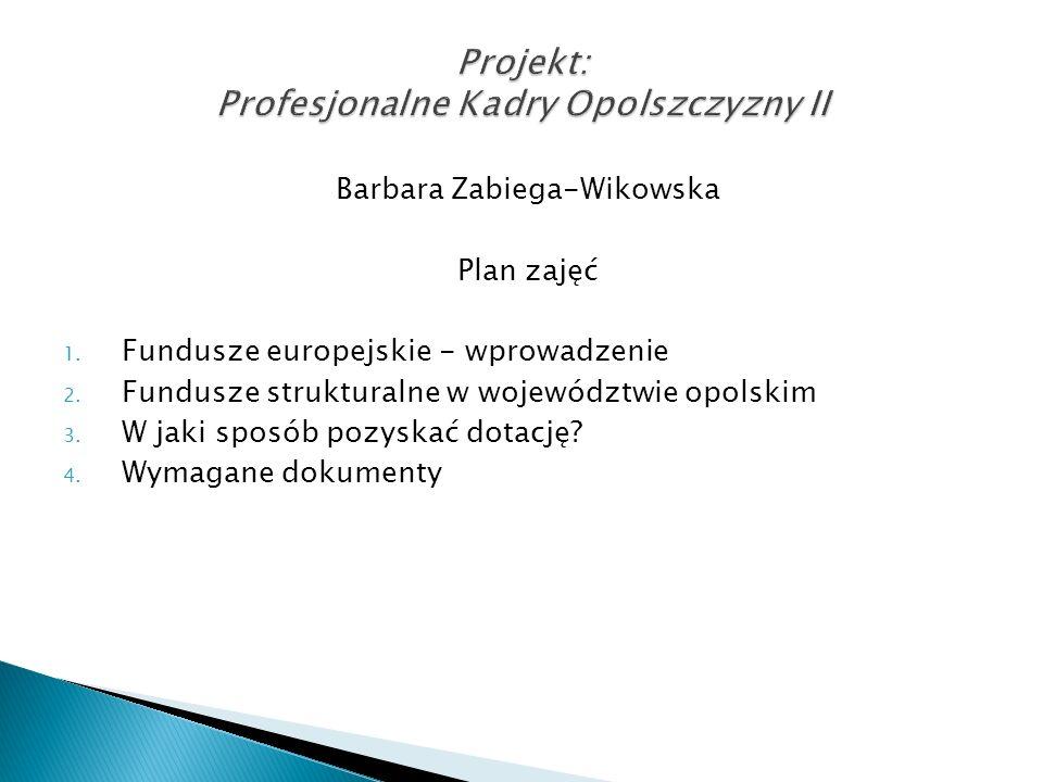 Projekt: Profesjonalne Kadry Opolszczyzny II