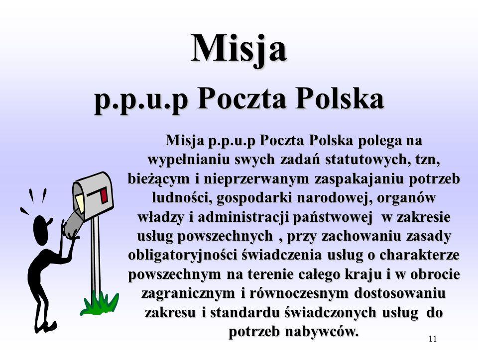 Misja p.p.u.p Poczta Polska