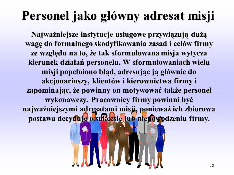 Personel jako główny adresat misji