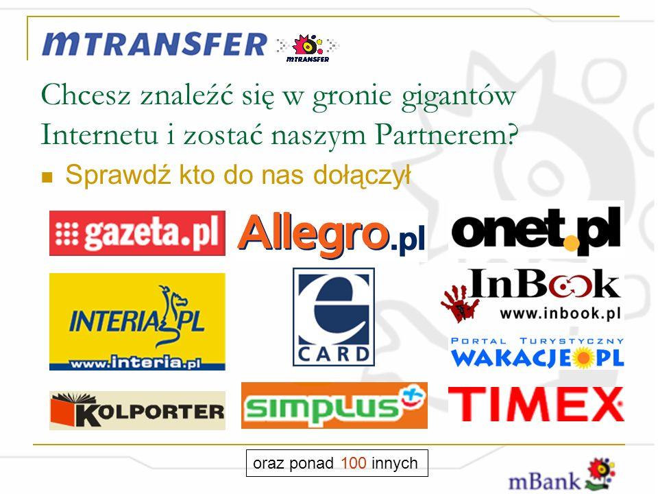 Chcesz znaleźć się w gronie gigantów Internetu i zostać naszym Partnerem