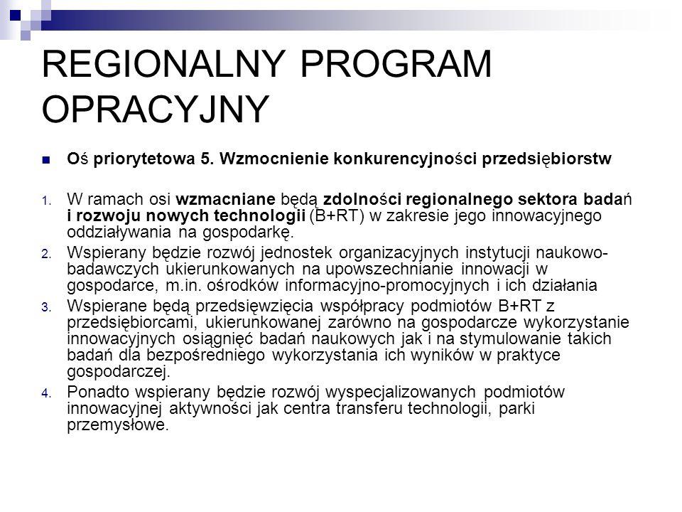 REGIONALNY PROGRAM OPRACYJNY