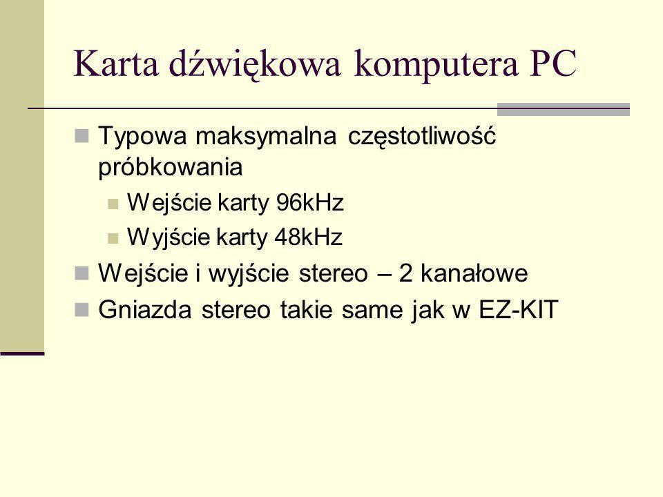Karta dźwiękowa komputera PC