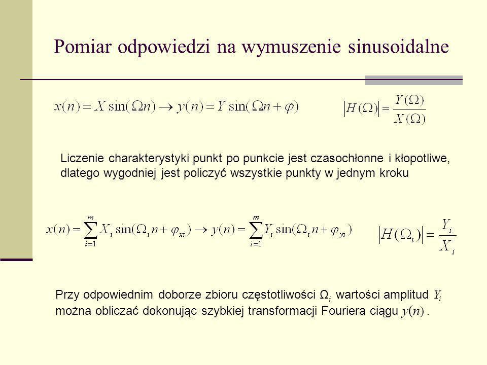 Pomiar odpowiedzi na wymuszenie sinusoidalne