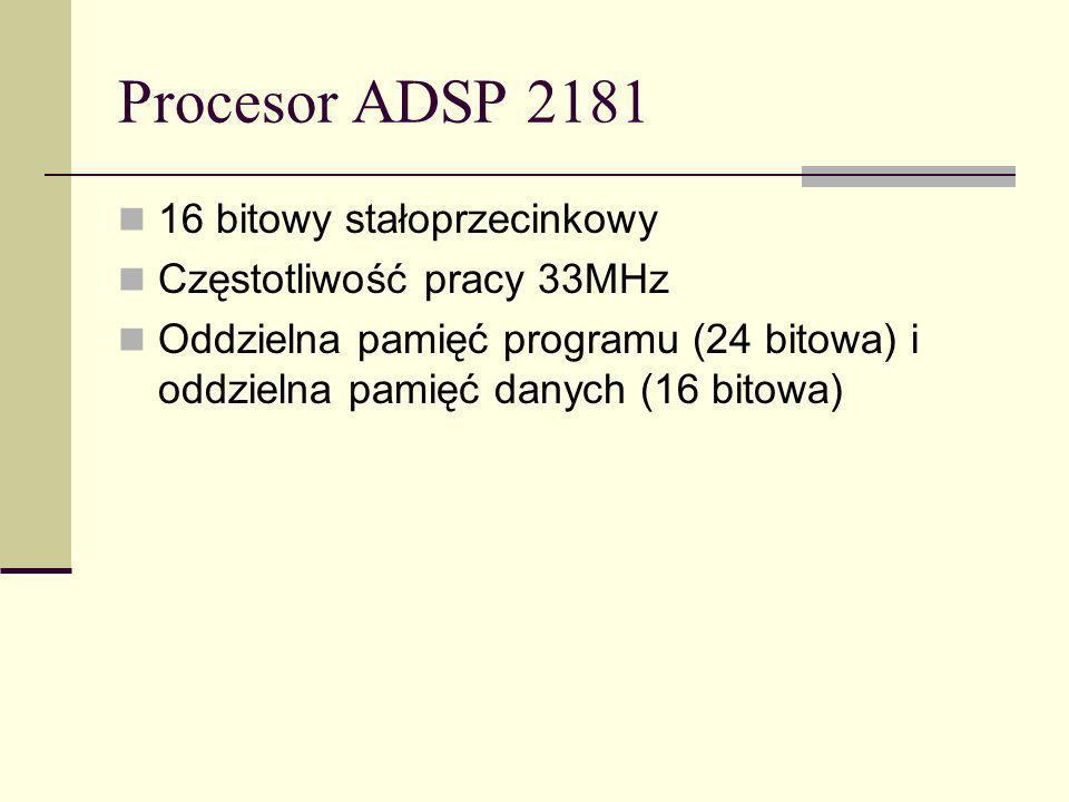 Procesor ADSP 2181 16 bitowy stałoprzecinkowy
