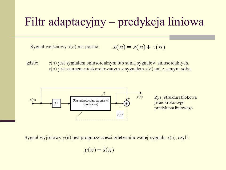 Filtr adaptacyjny – predykcja liniowa