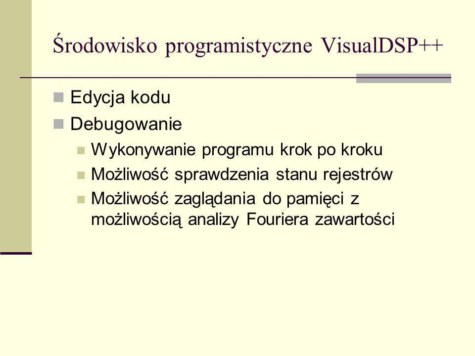 Środowisko programistyczne VisualDSP++