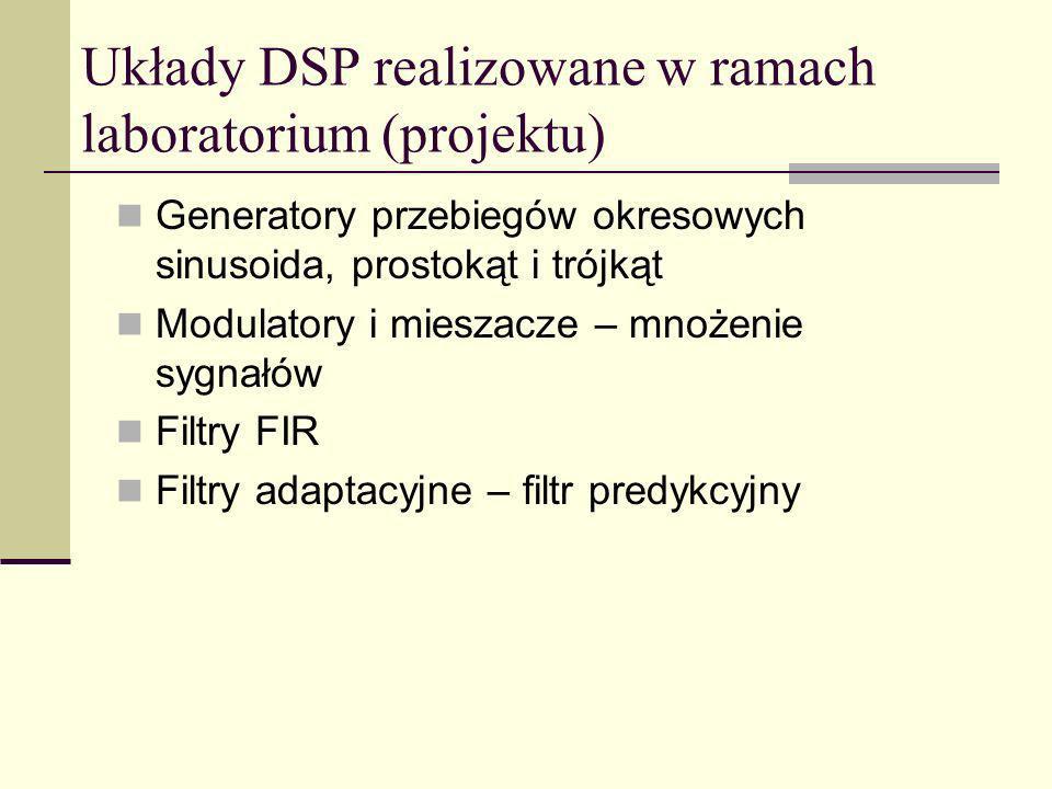 Układy DSP realizowane w ramach laboratorium (projektu)