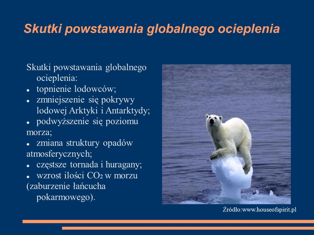 Skutki powstawania globalnego ocieplenia