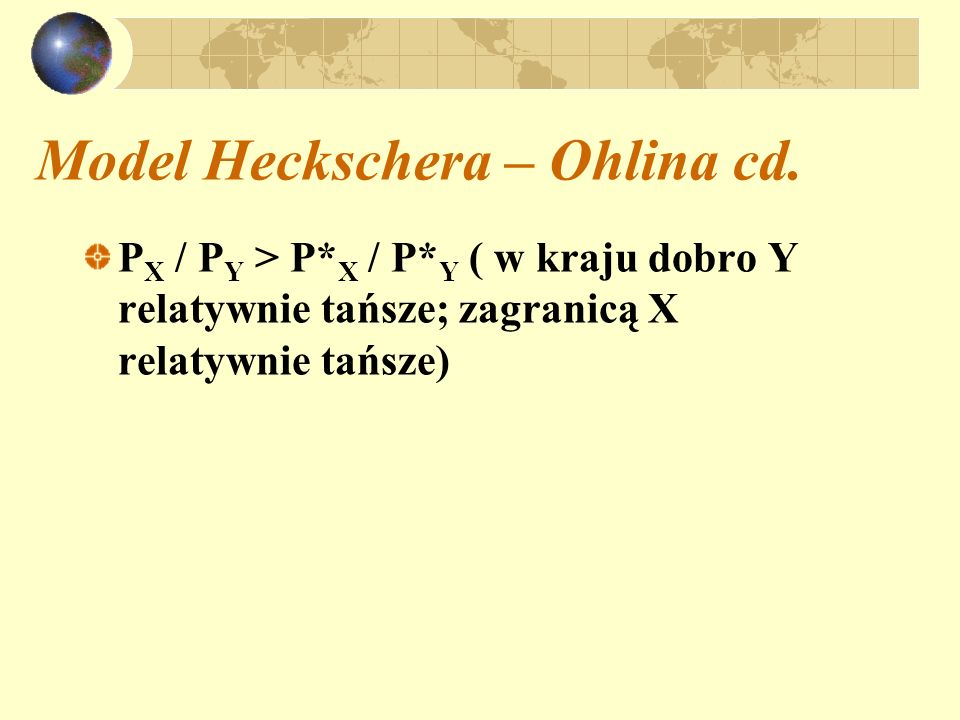 Model Heckschera – Ohlina cd.