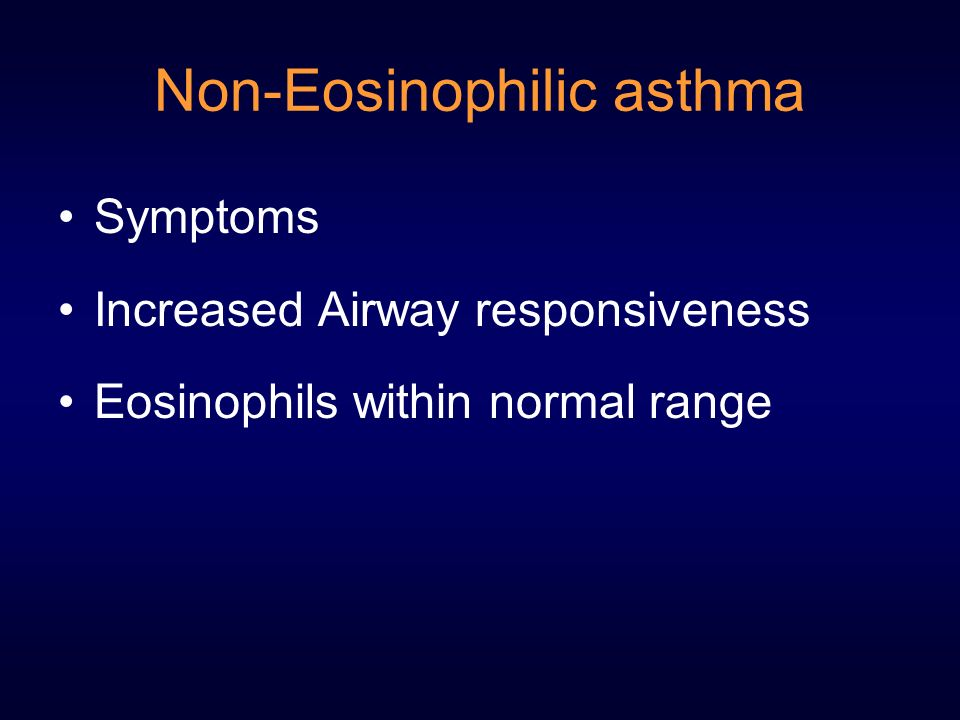 Non-Eosinophilic asthma