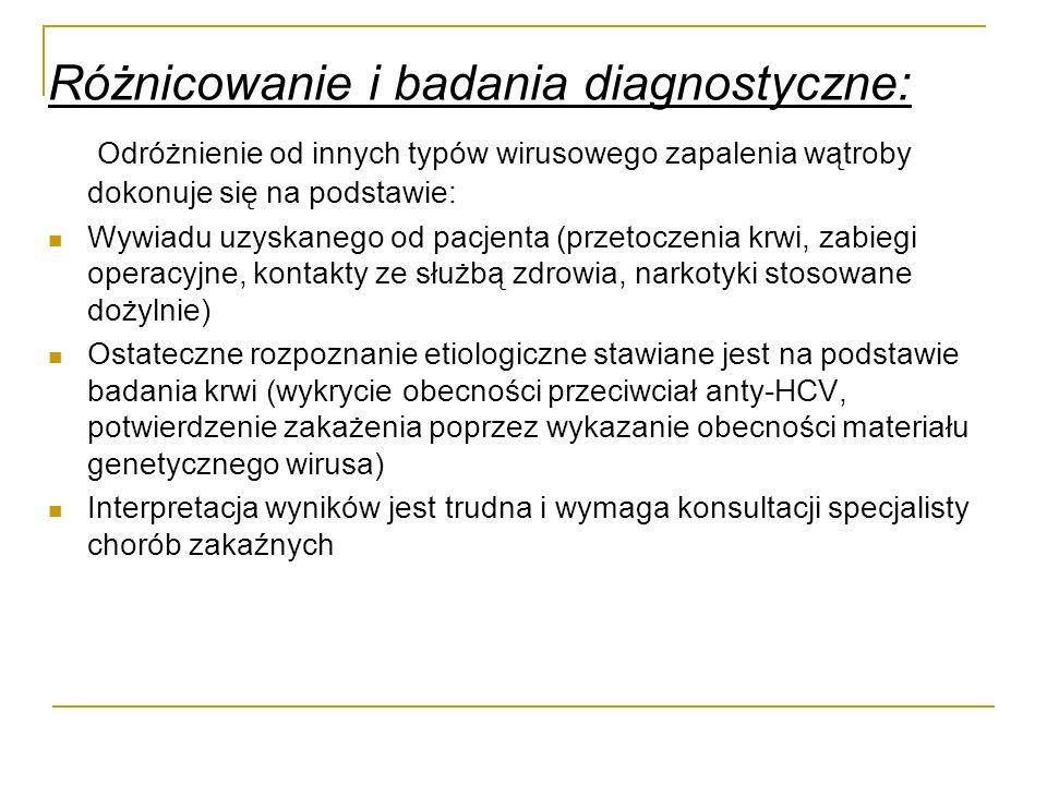 Różnicowanie i badania diagnostyczne: