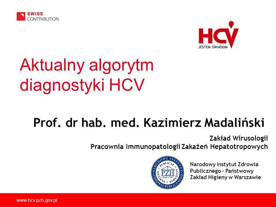 Aktualny algorytm diagnostyki HCV