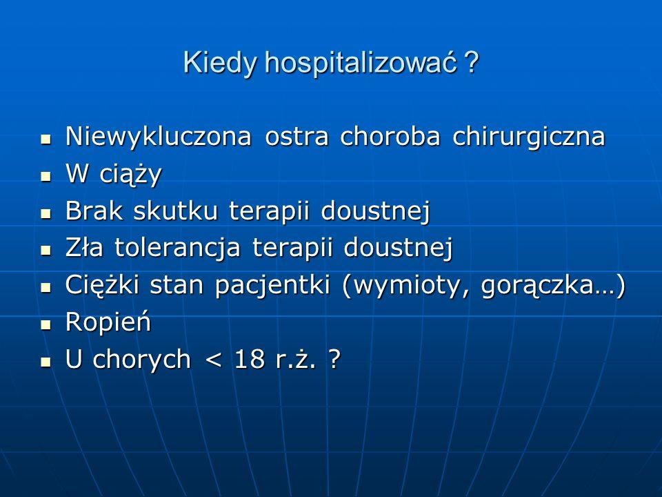 Kiedy hospitalizować Niewykluczona ostra choroba chirurgiczna