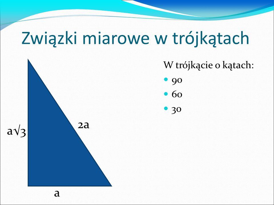 Związki miarowe w trójkątach