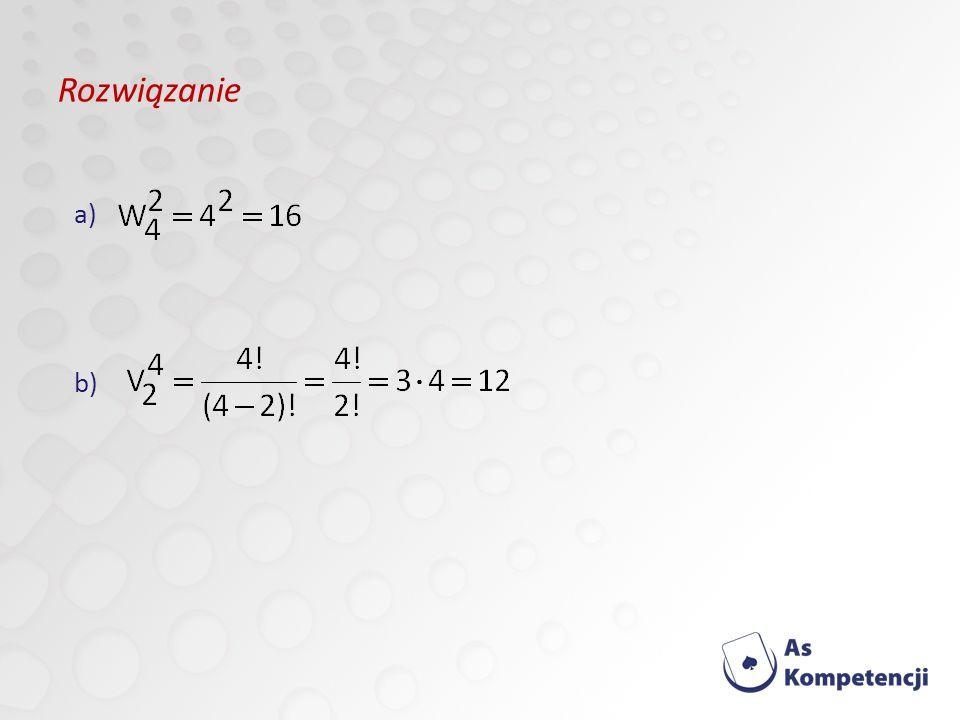 Rozwiązanie a) b)