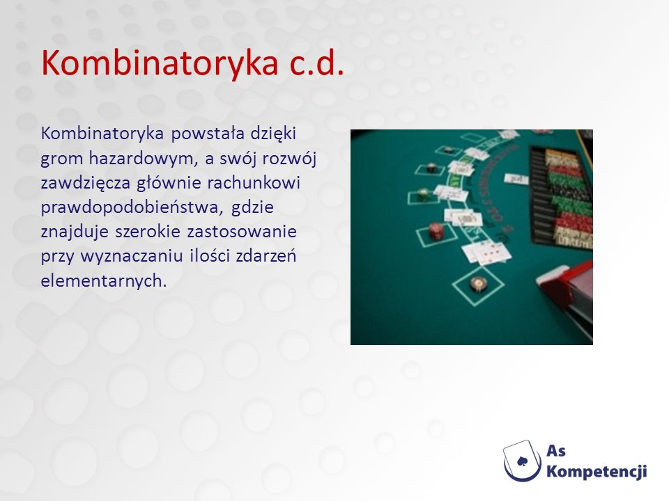 Kombinatoryka c.d.
